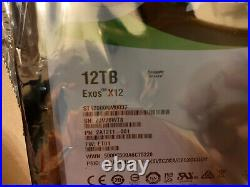 12TB Seagate Exos 7200RPM 3.5 SAS Internal Hard Drive ST12000NM0037