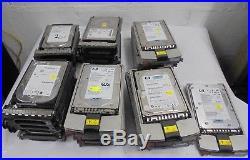 24 x SCSI Hard Drives HP Fujitsu Maxtor 300GB 146GB 36GB WORKING inc VAT