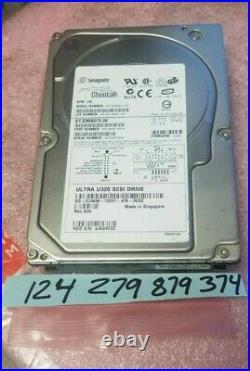 36.7GB 10K 68-PIN Ultra-320 SCSI 3.5 8MB Hard Drive ST336607LW FW DS09