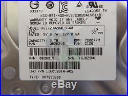 4 X 2TB Hitachi 7200RPM 3.5 SAS (Serial Attached SCSI) SCSI Server Hard Drive