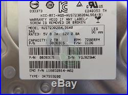 4 X 2TB Hitachi HGST 3.5 SAS Serial Attached SCSI Server Hard Drive 64MB + Tray