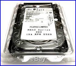 5- New Fujitsu MBA3 Series 300GB 15K U320 80pin SCA-2 SCSI Hard Drive MBA3300NC