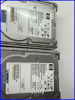 6 PC LOT, HP 146.8 GB 10000 RPM SCSI Hard Drive with Tray Model BD1468AC5