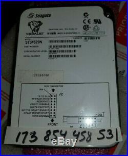 9l1001-006/hard Drive 4.5 Gb, 3.5in SCSI (mrc He033763gen) St34520n /seagate