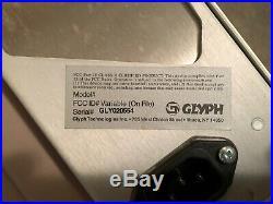 A lot of Glyph SCSI hard drive 2UR aluminum enclosures with cables, HD caddies