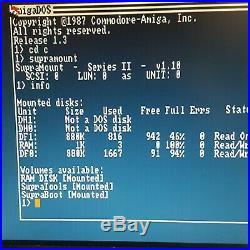 Amiga 1000 SupraDrive 4x4 SCSI Controller and 45MB External Hard Drive