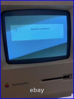 Apple Macintosh Plus SE, 2 GB External SCSI Hard Drive, System 7.1 APPS GAMES