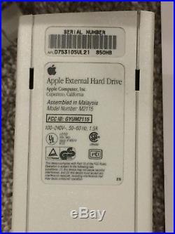 Boxed Apple 850MB SCSI External Hard Drive Macintosh Mac IIgs Computer M2115