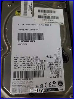 Compaq 158733-001 Fujitsu 9GB 10000RPM 3.5 MAG3091MP 68pin SCSI Hard Drive HDD