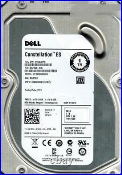 Dell 2T51W 02T51W 1TB 7.2K 6Gb/s 3.5 (LFF) SATA Hot-SWAP Hard Drive