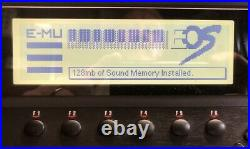 E-Mu E6400 Classic with 128Mb RAM, EOS 4.62, 4Gb internal Hard Drive, SCSI CDROM