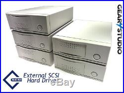 External SCSI Enclosure Hard drive 68 pin Sizes 73Gb 146Gb Formatted tested