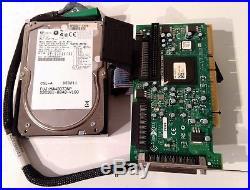 Fujitsu MAW3073NP SCSI 73GB 10K U320 68-pin Hard Drive + Advantech Controller