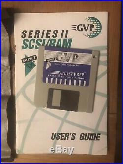 GVP Series II A2000 SCSI Hard Drive Controller Card & Ram+Manual/Disk Tested