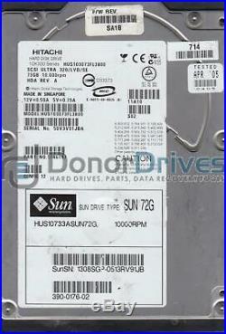 HUS103073FL3800, PN 17R6187, MLC SA1B, Hitachi 73GB SCSI 3.5 Hard Drive