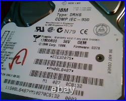 Hard Disk Drive SCSI IBM DRHS LVD IEC-950 ECE32075 PN08L8487 370