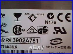 Hard Disk Drive SCSI Seagate Cheetah ST318406LC A-01-0301-1 9U3001-044 8A03