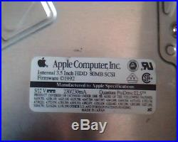 Hard Drive Disk SCSI Apple 80MB Quantum ProDrive ELS 85S PI08S023 08-M 9331103
