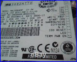Hard Drive Disk SCSI Fujitsu MAJ3364MP 076EXF Ultra160 CA05668-B56600DL Rev A