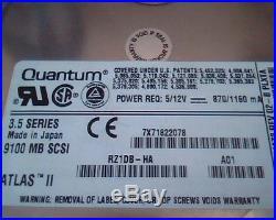 Hard Drive Disk SCSI Quantum Atlas II 9100J HN91J472 02-B 01-D PLXTA A01