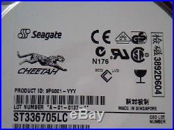 Hard Drive Disk SCSI Seagate Cheetah ST336705LC 9P6001-302 A-01-0137-1 5063