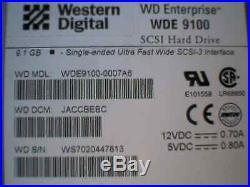 Hard Drive Disk SCSI WD Enterprise WDE 9100 9.1GB WDE9100-0007A6 4061-001191-006