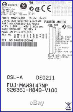 Hard Drive SCSI 68 Pin Maw3147np 147gb U320