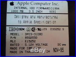 Hard Drive SCSI Apple IBM DPES-31080 85G2550 E15252 3.5