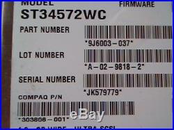 Hard Drive SCSI Disk Seagate Barracuda ST34572WC 9J6003