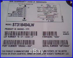 Hard Drive SCSI IBM ST318404LW 19K1484 19K1485 A-01-0203-2 9N9002-033 3283