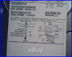 Hard Drive SCSI Seagate Cheetah Ultra320 ST336607LC 9V4006-001 0001 A-01-0304-5