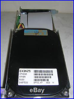 Hard drive add on scsi st01/02 8 bits card 50pin 40Mb conner cp3040 3.5 drive