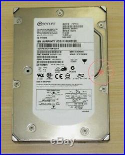 IBM 71P7475 26K5681 ST373454LW 73.4GB/73G 68-pin SCSI hard drive 15K