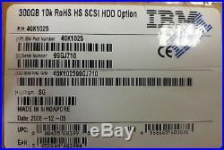 IBM Original 40K1025 SCSI Hard Drive 300 GB 10k RoHS NEW