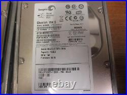 LOT OF 9 Seagate Cheetah 146GB 15K 3.5 SAS (ST3146855SS)