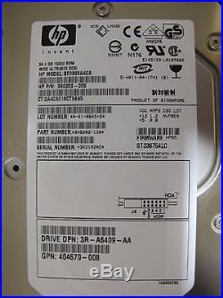 LOT of 10 HP 36.4GB 15000Rpm Ultra320 SCSI Hard Drive 286776-B22