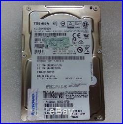 Lenovo 600gb 15k SCSI Sas 2.5 Sff Thinkserver Hard Drive Hot Swap Hdd 03t7881