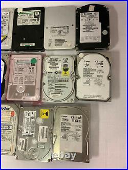 Lot of 17 GOOD Vintage SCSI IDE Hard Drives IBM Maxtor Seagate Quantum WD Caviar