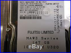 Lot of 20 Fujitsu Limited MAW3147NC 146GB 10k SCSI Hard Drives