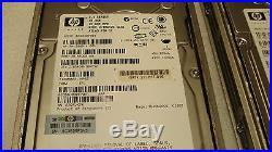 Lot of 7 HP BF03687B54 36.4GB WIDE ULTRA320 SCSI ATLAS 15000RPM 3.5 HARD DRIVE