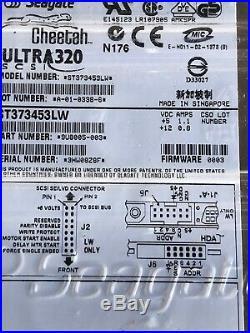 NEW Seagate ST373453lw Cheetah 80GB SCSI Internal Hard Drive 7200 RPM