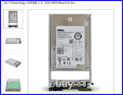 New Sealed Dell 400-ADPE PowerEdge 600GB 2.5 SAS HDD/Hard Drive 15000rpm 64MB