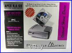 Pinnacle Micro Apex 4.6GB SCSI External Magneto Optical Hard Drive, SEALED