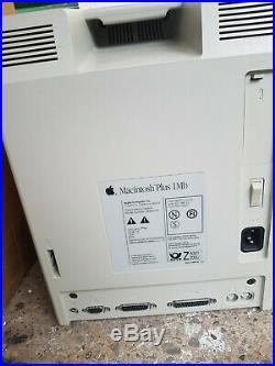 RARE Vintage APPLE Mac Macintosh Plus 1MB Computer KB + Mouse + SCSI Hard Drive