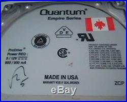 SCSI Hard Disk Drive 50-pin Quantum ProDrive 1080S Empire EM10S013-02-K 1GB