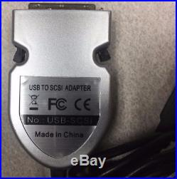 SCSI To USB Adapter Cable HD50 SCSI-2 ADA-USB2SCSI Converter Hard Drive CDROM