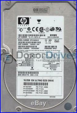 ST318406LW, 3FE, AMK, PN 9U3002-034, FW HP03, HP 18.2GB SCSI 3.5 Hard Drive