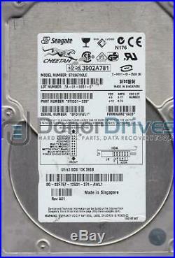 ST336706LC, 3FD, SG, PN 9T9001-039, FW 8A03, Seagate 36.7GB SCSI 3.5 Hard Drive