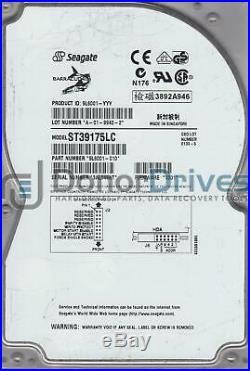 ST39175LC, 3AL, PN 9L6001-010, FW 0001, Seagate 9.1GB SCSI 3.5 Hard Drive