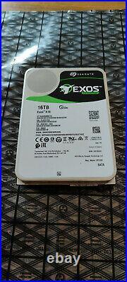 Seagate 16TB EXOS X16 Enterprise Internal SATA Hard Drive ST16000NM001G xx